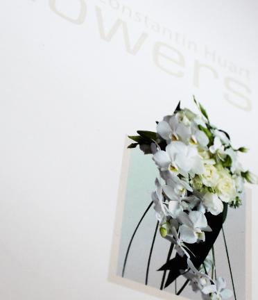 <b>CH Flowers, designer floral à Waterloo</b><br/>Réalisation d'une brochure spécial mariage