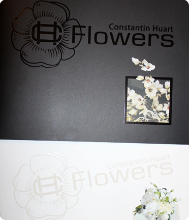 <b>CH Flowers, designer floral à Waterloo</b><br/>Réalisation d'une brochure spécial mariage faisant suite à la brochure générale.